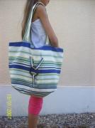 art textile mode marine sac marin plage rayure : sac marin