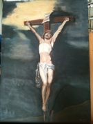 tableau personnages jesus golgotha croix d apres van dyc : Etude d'après Van DyckJésus