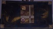 tableau abstrait or abstrait toile acrylique : le mélange de l'or