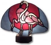 ceramique verre animaux art nouveau flamands : Flamands rose