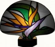 ceramique verre : Oiseau de paradis