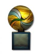 ceramique verre abstrait art nouveau design : Hélios