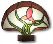 ceramique verre fleurs art nouveau abstrait : Fleur et feuillages 2