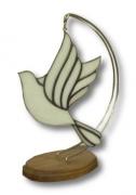 ceramique verre animaux tiffany : Colombe