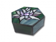 ceramique verre fleurs luxe irise art nouveau : Lotus