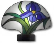 ceramique verre fleurs art nouveau : Iris bleu