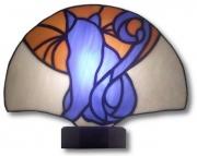 ceramique verre animaux chat abstrait art nouveau : Chat bleu