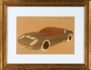 bois marqueterie autres lamborghini miura marqueterie padouk : Lamborghini Miura SV