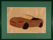 tableau autres aston martin bouleau marqueterie voiture : Aston Martin DBS Volante
