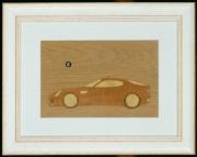 bois marqueterie sport alfa romeo 8c marqueterie tableau eau : Alfa Romeo 8C Compétition