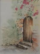 tableau paysages aube cormost paysage bormes les mimosas : Bormes les Mimosas - La porte