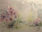 tableau fleurs aube cormost fleurs iris : Les iris