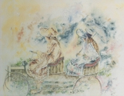 tableau : Elégance - Petites filles en dentelle