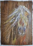 tableau animaux aube cormost chevaux expression : Méditation