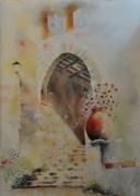 tableau autres aube cormost paysage bormes les mimosas : Bormes les Mimosas - La voute