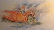tableau : Le cabriolet rouge