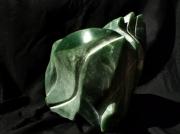 sculpture abstrait aventurine pierre semi precieus sculpture vert : bourgeon