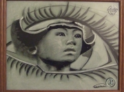 dessin personnages homme : tibet
