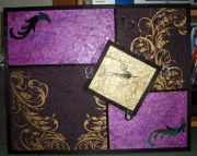 deco design : horloge violette