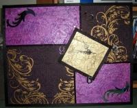 horloge violette