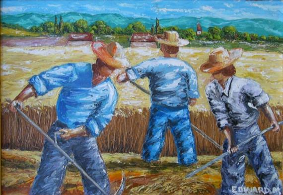 TABLEAU PEINTURE Peinture a l'huile  - MOISSONS
