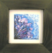 tableau abstrait fleur : iris