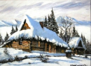 tableau architecture montagne pologne zakopane neige : zakopane 1