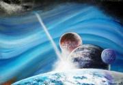 tableau autres planetes univers terre cosmos : UN MATIN