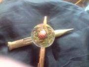 bijoux autres bague resine vert : BAGUE NATURE