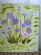 tableau fleurs marguerites danse champs printemps : danse des marguerites (aster)