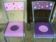 deco design fleurs chaise ecole relooking pop : relooking chaises d'école d'antan