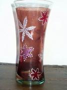 ceramique verre : vase étoilé