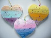 bois marqueterie autres coeurmulticolor sciechantournage aimeramour rosebleuvioletjau : coeurs arc-en-ciel