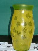 ceramique verre : vase feuillu