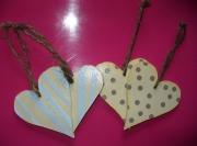 bois marqueterie autres coeur pois bois chantournage : coeurs à pois et rayés