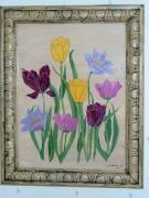 tableau fleurs cadre fleur tulipe tableau : bouquet de tulipes