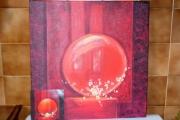 tableau autres sphere rouge loisir creatif home deco tableaux contemporai : sphère rouge