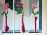 tableau fleurs fleur vase decoration gris tableau : les 3 grâces