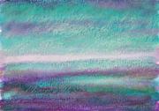 """dessin paysages pastel ,a l huil design decoration peinture : """"Paysage imaginaire 8"""" 14,7X21"""
