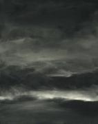 tableau paysages paysage ciel nuages campagne : Crépuscule
