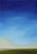 tableau abstrait ciel huile paysage bleu : Brumes
