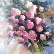 tableau fleurs fleur rose romantique nature : Les fleurs