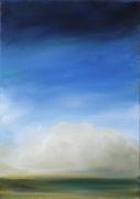 tableau paysages ciel huile paysage bleu : Nuages