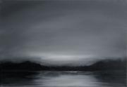 tableau paysages loire paysage ciel fleuve : Crépuscule calme