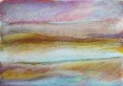 """dessin abstrait pastel ,a l huil design decoration peinture : """"Paysage imaginaire 9"""" 14,7X21"""