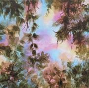 tableau paysages shabby nature deco bleu : Feuillages d'automne #4