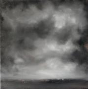 tableau paysages abstrait paysage brume ciel nuage : Ciel orageux