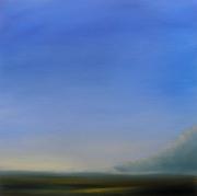 tableau paysages ciel lumiere paysage bleu : Impression d'été