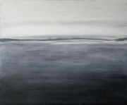 tableau paysages paysage nuage mer la loire : Le lac gelé