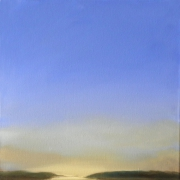 tableau paysages ciel huile paysage matin : La loire